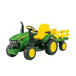 John Deere traktor Ground Force z przyczepką