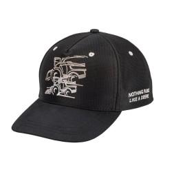 MCJ099399153 Czarna czapka John Deere