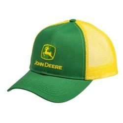MCDW080277YW Czapka John Deere zielono - żółta