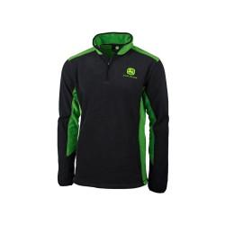 Bluza polarowa czarno-zielona John Deere MCDW1710BJ04